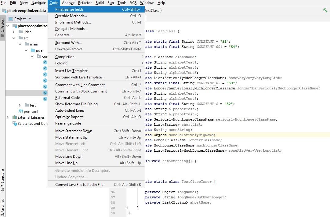 Pine Tree Code Optimizer Plugins Jetbrains