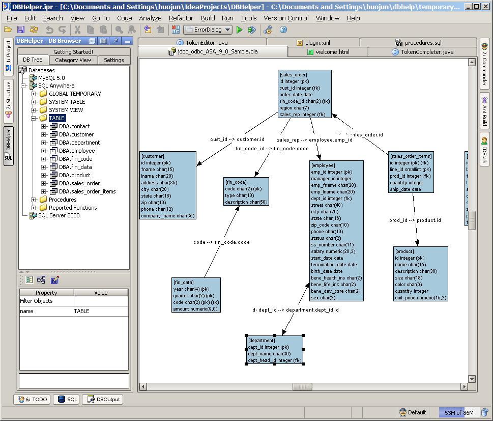dbhelper jetbrains plugin repository screenshot 263