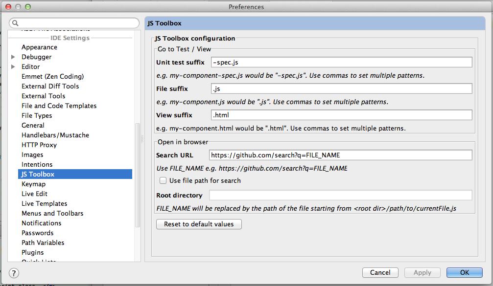JS Toolbox - Plugins   JetBrains