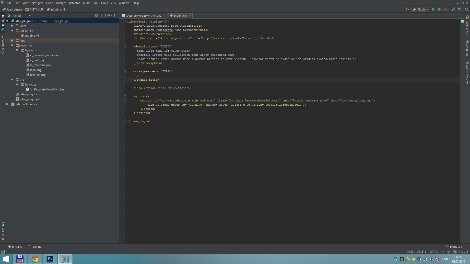 Window Decorate Mode Switcher - Plugins   JetBrains