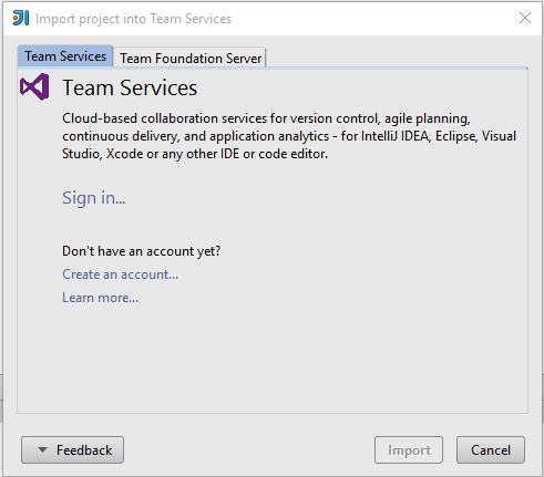 Connecting To Team Foundation Server In Visual Studio For