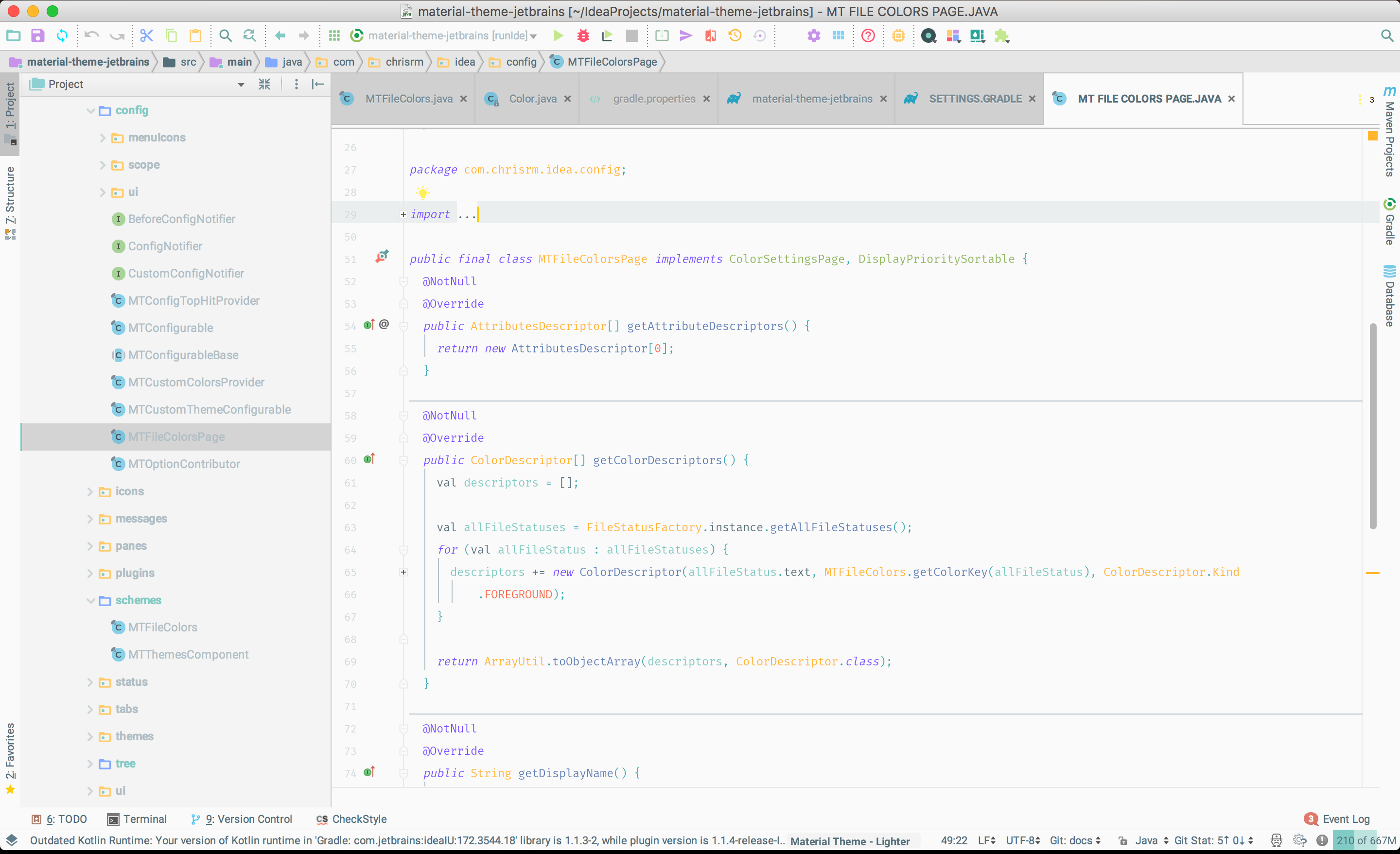 Material theme ui jetbrains plugin repository screenshot 17527 malvernweather