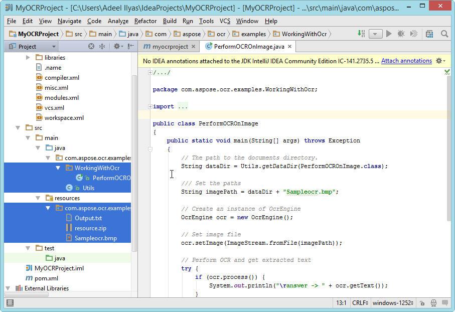Aspose.OCR Java for IntelliJ IDEA Maven :: JetBrains Plugin Repository