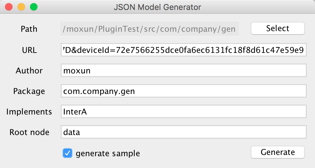 JSON Model Generator - Plugins | JetBrains